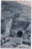 Cerbère - Le Roussillon, Steam Train Entering International Tunnel, Border With Spain, Postally Used, 1906 - Cerbere