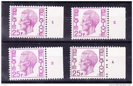 BELGIQUE,  TYPE ELSTROM COB 1748 POLYV  SERIE  ** MNH. ( 3T484 ) - 1970-1980 Elström