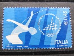 *ITALIA* USATI 2006 - GIOCHI OLIMPICI PATTINAGGIO TORINO 2006 - SASSONE 2872 - LUSSO/FIOR DI STAMPA - 6. 1946-.. Repubblica