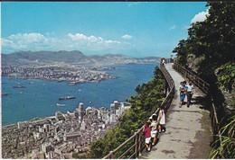 CHINE--HONG KONG--bird's Eye View Of Hong Kong- Central Area And Kowloon Peninsula-voir 2 Scans - China (Hongkong)