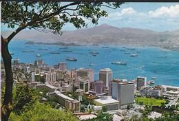 CHINE--HONG KONG--bird-eye View To The Central District Of Victoria Hong Kong---voir 2 Scans - China (Hongkong)