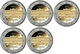 Alemanha - 2 Euro Cc - 70ª Bundesrat 2019 ( A D F G J ) UNC - Germany