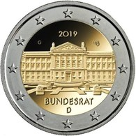Alemanha - 2 Euro Cc - 70ª Bundesrat 2019  UNC - Allemagne