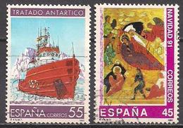 Spanien (1991)  Mi.Nr.  3024 + 3017  Gest. / Used  (10af15) - 1931-Heute: 2. Rep. - ... Juan Carlos I
