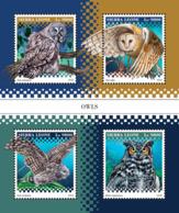 Sierra Leone   2018 Fauna   Owls S201812 - Sierra Leone (1961-...)
