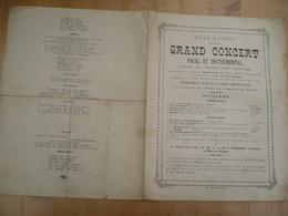 Aalst 1881 Grand Concert Au Provit Des Pauvres - Programmes