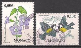 Monaco  (2002)  Mi.Nr.  2575 + 2576  Gest. / Used  (10af08) - Oblitérés