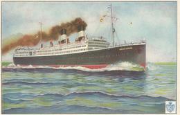 VAPOR G. CESARE NAVIGAZIONE GENERALE ITALIANA  (579) - Barche