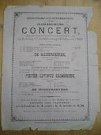 Grembergen Concert 1886 - Affiches