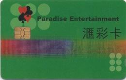 Carte Membre Casino : Paradise Entertainment Macau Macao - Cartes De Casino