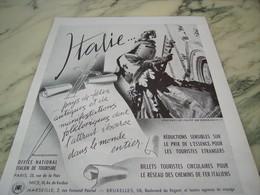 ANCIENNE AFFICHE PUBLICITE  ITALIE  1953 - Pubblicitari