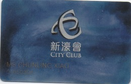 Carte Membre Casino : City Of Dreams : City Club Macau Macao BLEU - Cartes De Casino