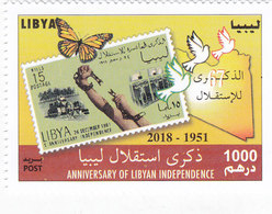 Libya New Issue 2018,Ann Independence 1`v.complete Set MHH- Butterly ,brids- Nice Topical- SKRILL PAYMENT ONLY - Libië