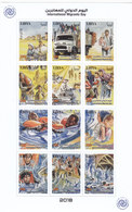 Libya New Issue 2018, Internat.Migrant Day Sheetlet Of 12 Stamps Iunfolded-scarce-compl MNH- SKRILL PAY ONLY - Libië
