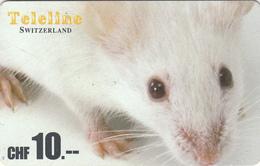 SWITZERLAND - Mouse , Teleline Prepaid Card Fr.10, Used - Schweiz