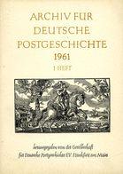 Archiv Für Deutsche Postgeschichte Heft 1 / 1961 - Deutsch (ab 1941)