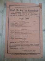 Sint Gillis Dendermonde Ten Voordele Krijgsgevangenen Muzikaal Cinemafeest 1918 Kinema Minerva - Affiches