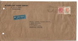 Hong Kong 1938 King George VI One Dollar SG 156, 25 Cent, 1951 Airmail Cover - Hong Kong (...-1997)
