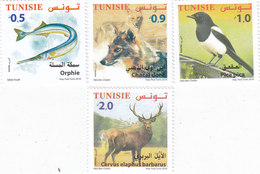 Tunisia New Issue 2018, Animals 4v. Brids,fish,etc... 4v. Complete Set MNH- Nice Topical Set - SKRILL PAYMENT ONLY - Tunisia