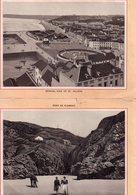 Jersey, 2 Gravures Pont De Plémont Et Vue Générale De St Helier, 18 X 13 Cm - Photographie