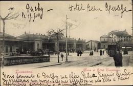 Cp Lausanne Kt. Waadt Schweiz, Gare Et Hotel Terminus, Tramway - VD Vaud
