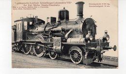 Les Locomotives (Allemagne)  2/4 Gekuppelte 2-zylindr. Schnellzugs-Lokomotive VIII Der Kgl Sächs Staats-Eisenbahn - Trains