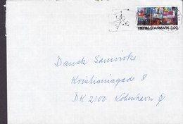 Denmark Jomsborgvej 29, HELLERUP Slogan Flamme KØBENHAVN 1988 Cover Brief Dansk Metal Stamp (2 Scans) - Briefe U. Dokumente