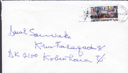 Denmark Hambros Allé 29, HELLERUP Slogan Flamme KØBENHAVN 1988 Cover Brief Dansk Metal Stamp (2 Scans) - Briefe U. Dokumente