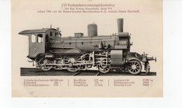 Les Locomotives (Allemagne)  Machine N°1936 2 B  Verbundpersonenzuglokomotive. - Trains