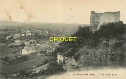 38 L'ile D'Abeau, La Vieille Tour, Carte Pas Courante Affranchie 1911 - Other Municipalities