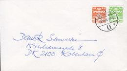 Denmark Jægersborg Allé 241, GENTOFTE Brotype Vd KØBENHAVN Ø (Sn.4) 1985 Cover Brief 2x Wellenlinien Stamps - Briefe U. Dokumente