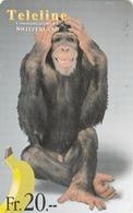 SWITZERLAND - Monkey, Funny Animals - Heard Anything , Teleline Prepaid Card Fr.20, Used - Zwitserland