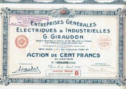 75-ELECTRIQUES & INDUSTRIELLES G. GIRAUDON. ENTREPRISES GENARALES ... Lot De 3 - Other