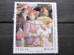 *ITALIA* USATI 2006 - 5° CENT ANDRA MANTEGNA - SASSONE 2882 - LUSSO/FIOR DI STAMPA - 6. 1946-.. Repubblica