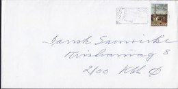 Denmark Strandvejen 231, CHARLOTTENLUND Slogan Flamme LYNGBY 1989 Cover Brief C. W. Eckersberg Painting Stamp - Briefe U. Dokumente