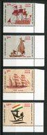 INDE 2001 N° 1588/1591 ** Neufs MNH  Superbes Bateaux Voiliers Navires De Guerre Pal Galbat Tarangini Logo Transports - Nuovi
