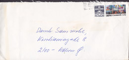 Denmark Ved Kroen? 22, GENTOFTE Slogan Flamme ?? 1989 Cover Brief Dansk Metal Stamp - Briefe U. Dokumente