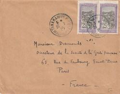 MADAGASCAR Lettre 1923 TANANARIVE R.P. - Madagaskar (1889-1960)
