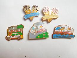 Belle Série De 5 Pin's Différents , Surgelés , Glaces Thiriet - Food