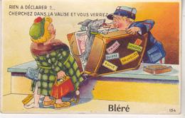 37 Bleré - Carte à Système Rien à Déclarer,  édit Artaut 154. Datée 1955, Tb état. - Bléré