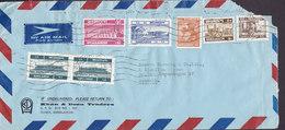 Bangladesh Airmail Par Avion KHAN & DEEN TRADERS 1987 Mult Franked Cover Brief To Denmark 1T, (2x) 2T,  10T Stamps - Bangladesch