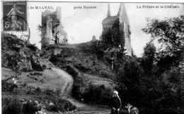 RUINES DE MALVAL PRES BONNAT LA PRISON ET LE CHATEAU TBE - France