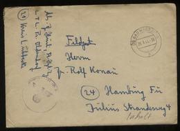 WW II Feldpost Brief : Gebraucht Mit PLZ 20 Stempel Bad Harzburg - Hamburg 1944, Bedarfserhaltung Mit Inhalt. - Briefe U. Dokumente