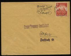 WW II DR 8 Pfg WHW Briefmarke EF Auf Briefumschlag: Gebraucht Mit Werbestempel Graz Tramway Gesellschaft 1940, Bedarfs - Briefe U. Dokumente
