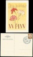WW II WHW Karte: Nelken, Gebraucht Mit Sonderstempel München 1938. - Deutschland