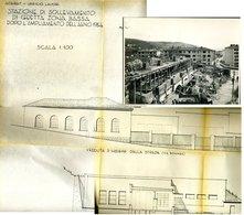 256 TRIESTE 1954 VIA BONOMEA ACEGAT 2 FOTO 3 FOGLI PROGETTO CON DETTAGLI - Documenti Storici