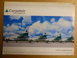 AIRLINE ISSUE / CARTE COMPAGNIE          CARPATAIR  SAAB 340B - 1946-....: Era Moderna
