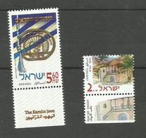 Israël N°1557, 1558 Neufs** Cote 7 Euros - Unused Stamps (with Tabs)