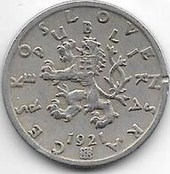 *czechoslovakia 50 Haleru 1921 Km 2 Vf+ - Tchécoslovaquie