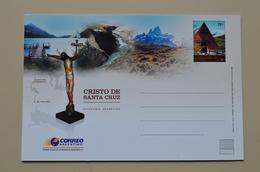Argentine Entier Postal Christ Cristo De Santa Cruz Argentina Entero Stationary - Christianisme
